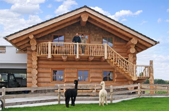 Urlaub im Holzblockhaus